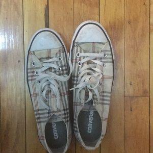 Converse all star tartan sneakers